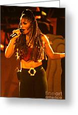 Janet Jackson 94-2994 Greeting Card