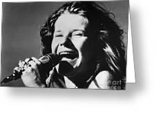 Janis Joplin (1943-1970) Greeting Card by Granger