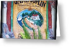 Janis Joplin In Concert Mural Greeting Card