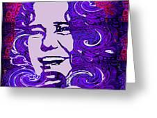 Janis Joplin Greeting Card