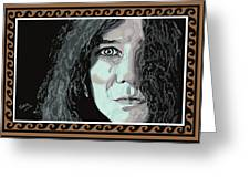 Janis Joplin Greeting Card by Suzanne Gee