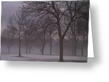 January Fog 4 Greeting Card