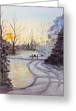 January Morning Greeting Card