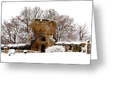 January Snow In England  Greeting Card