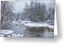 January Snow On The River Greeting Card
