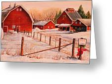 January Thaw Greeting Card