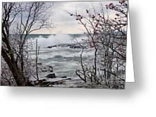 January Winds And Waves Greeting Card