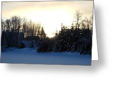January Winter Morninng Greeting Card