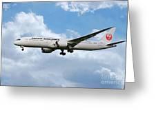 Japan Airlines Boeing 787 Dreamliner Greeting Card