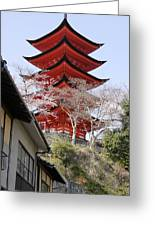 Japan Itsukushima Temple Greeting Card