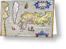 Japan: Map, 1606 Greeting Card