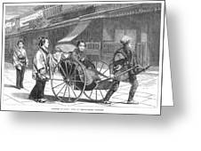 Japan: Rickshaw, 1874 Greeting Card by Granger