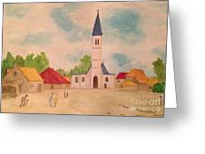 Japanese Artistic Light Of Esaias Van De Velde Greeting Card