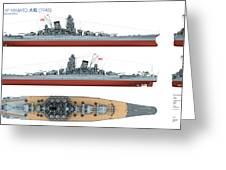 Japanese Battleship Yamato Greeting Card
