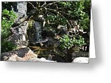 Japanese Garden And Koi Pond Greeting Card