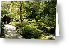 Japanese Garden At Butchart Gardens In Spring Greeting Card