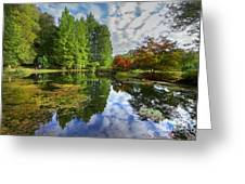 Japanese Garden Pond I Greeting Card