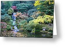 Zen Japanese Garden Greeting Card