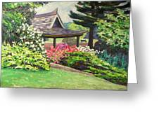 Japanese Garden-spring Blossoms Greeting Card