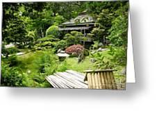 Japanese Garden Teahouse Greeting Card