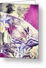 Japanese Iris - Kimono Series Greeting Card