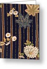 Japanese Maple And Chrysanthemum Modern Interior Art Painting. Greeting Card