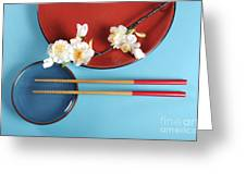 Japanese Oriental Place Setting Greeting Card