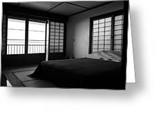 Japanese Style Room At Manago Hotel Greeting Card