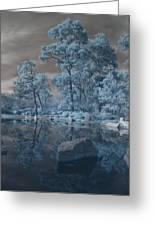 Japanese Tea Garden Infrared Center Greeting Card