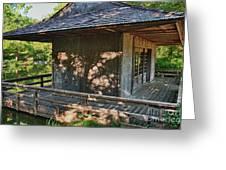 Japanese Teahouse Greeting Card