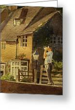 Japanese Tourist In England Greeting Card