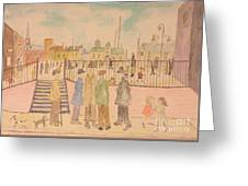 Japanese Whispers In Respect Of Lowry Greeting Card