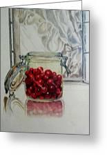 Jar Of Cherries Greeting Card