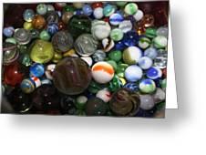 Jar Of Marbles Greeting Card
