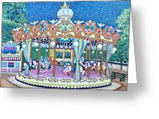 Jardin Des Tuileries Carrousel Greeting Card