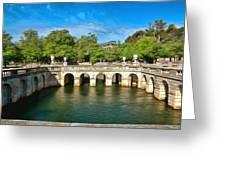 Jardins De La Fontaine Nimes Greeting Card