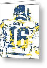 Jared Goff Los Angeles Rams Pixel Art 2 Greeting Card