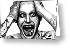 Jared Leto As The Joker Greeting Card