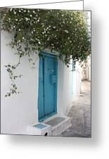 Jasmine And Blue Door Greeting Card
