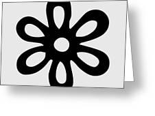 Camellia - Black  Greeting Card