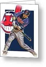 Jason Kipnis Cleveland Indians Oil Art Greeting Card