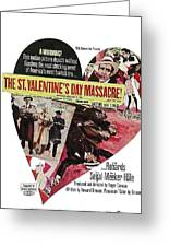 Jason Robards As Al Capone Theatrical Poster The St. Valentines Day Massacre 1967  Greeting Card