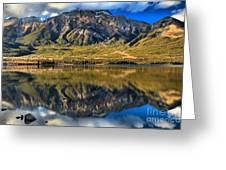 Jasper Pyramid Lake Reflections Greeting Card