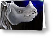 Javan Rhino Greeting Card