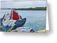 Jaws - Beach Graffiti Greeting Card