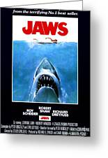 Jaws Movie Poster - 1975 Greeting Card
