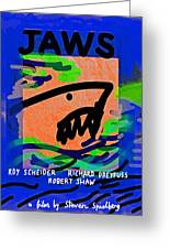Jaws Poster  Greeting Card