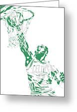 Jaylen Brown Boston Celtics Pixel Art 12 Greeting Card