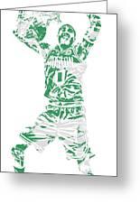 Jayson Tatum Boston Celtics Pixel Art 11 Greeting Card