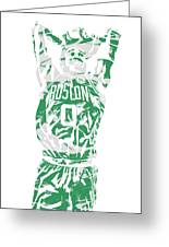 Jayson Tatum Boston Celtics Pixel Art 12 Greeting Card
